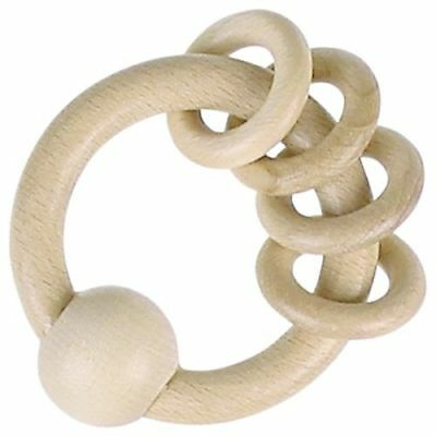 Baby Spielzeug Greifling Greifring Holz HEIMESS nature Rassel Holzring Ring