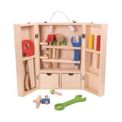 Tooky Toy Wooden Carpenter Kids Children Learning Set Educational Activity Toy