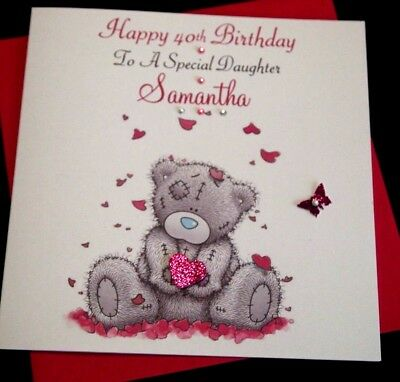 Handmade Personalised Birthday Card Daughter Granddaughter Friend 30th 50th Any