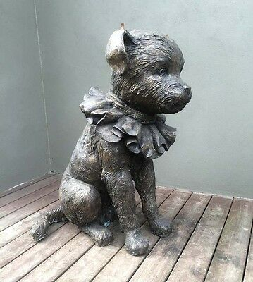 """David Bromley LARGE sculpture """"DOG WITH FRILL""""Bronze!!105 cm. height!SOLD OUT!!!"""