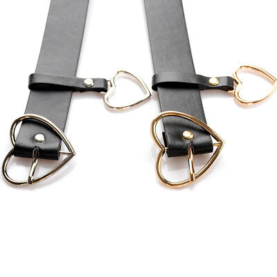 Metal Buckle Belt Waistband Fashion Women Leather Gifts Accessories Black Heart