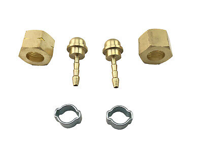 3/8 BSP Regulator Brass Barb fittings 3mm ID hose Smith little torch Left hand