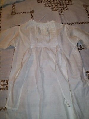 Baby Dress Gown Edwardian Cotton Embroidered Whitework (2)