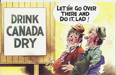 Vintage 1970's Bamforth COMIC Postcard (as new condition) Drink Canada Dry #311
