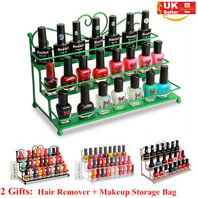 2XGift 3 Tier Nail Polish Shelf Rack Display Wall Mounted Cosmetic Stand Holder