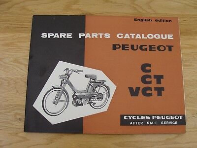 PEUGEOT BB-104 C CT VCt Spare Parts Book (GENUINE  MANUAL) With Without Variator