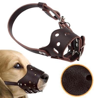Strong Dog Muzzle Anti-bite Prevent Bark Mouth Adjustable Strap Mask Pet MSF