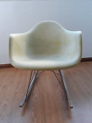 Vintage Eames Herman Miller Rar Rocking Chair Light Green