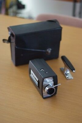 Bell and Howell Super 8 Camera with unique grip and original case, Made in Japan