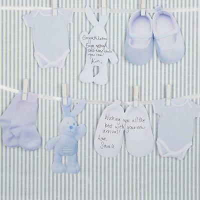 Pattern Works Alternative Boys New Baby Shower Guest Book Party Blue