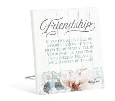 French Country Vintage Inspired Wall Art Wooden MAGNOLIA FRIENDSHIP BE THERE ...