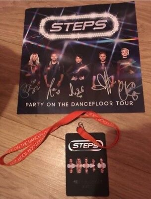 STEPS SIGNED Party On The Dancefloor Programme and VIP Lanyard!