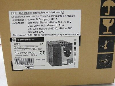 Telemecanique Variable Frequency Drive - New With Box ATV11HU41M2U