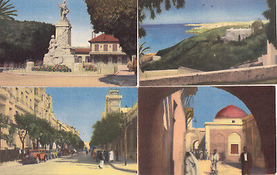 Postcards Tunis North Africa 10 unposted cards reproduction of watercolours 1945