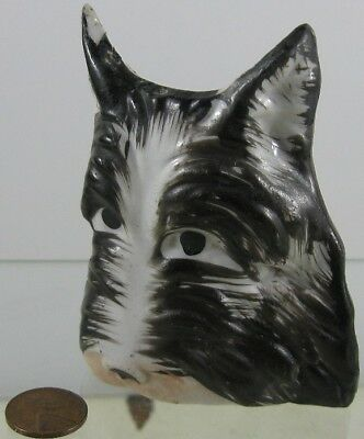 Vintage 1930's Wall Pocket Toothbrush Holder Cute Scottie Dog Japan