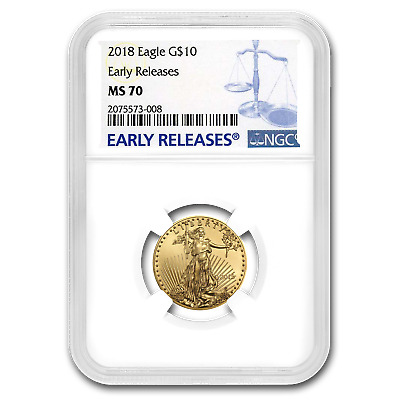 2018 1/4 oz Gold American Eagle MS-70 NGC (Early Releases) - SKU#153161
