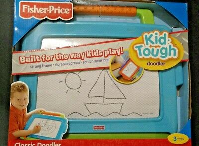 Fisher Price Kid Tough Doodler Classic Doodler Blue Green Orange 3+ Toy 16x14