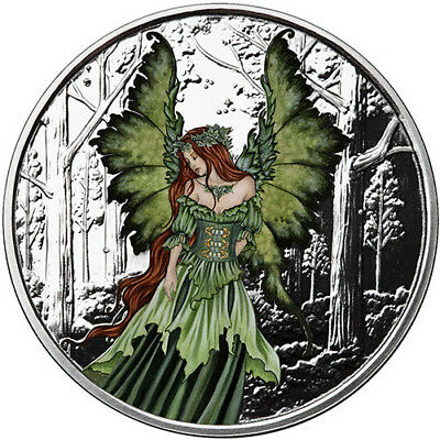 Amy Brown Collection - Lady Of The Forest 5 oz .999 Silver Colorized Proof Round