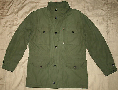 Barbour Sapper Jacket Men waterproof Cotton Military Style Quilted Lining size L