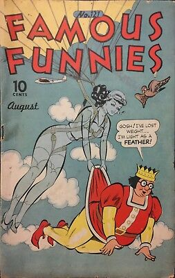 FAMOUS FUNNIES COMIC #121 August 1944