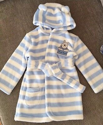 Baby boys Hooded Fleece dressing Gown 9-12 months 💙 BNWOT