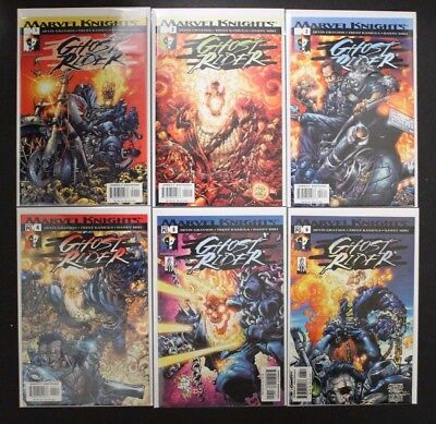 Ghost Rider 1- 6 Complete Set Marvel Knights 2001