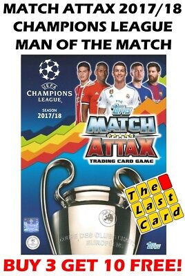 Match Attax 2017/18 Uefa Champions League Man Of The Match Buy 2 Get 2 Free!