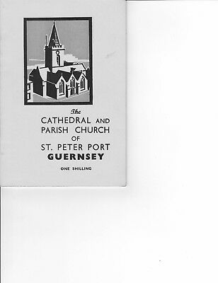 Ephemera Guernsey , Booklet of  the Cathedral and Parish Church of St Peter Port