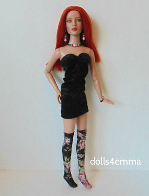 "TYLER DOLL CLOTHES Sexy DRESS + STOCKINGS + JEWELRY 16"" HM Fashion NO DOLL d4e"