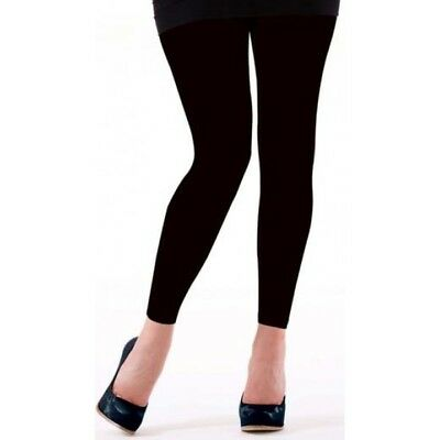 New Womens Girls Fleece Lined Feel Black Long Thick Ladies Legging M/ L, X/L