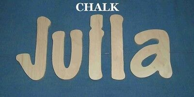 "Unpainted Wooden Wall Letters 6"" size Home Decor Kids Room Baby Nursery Chalk"