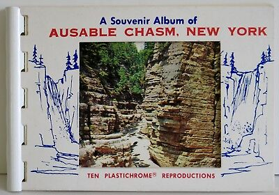 Ausable Chasm Plastichrome Photo Flip Book 10 Travel Photos By Lavin Candy Co NM