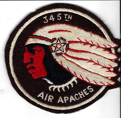 Rare & real Australian made 345th Bomb patch AIR APACHES, Beautiful,AF Squadron