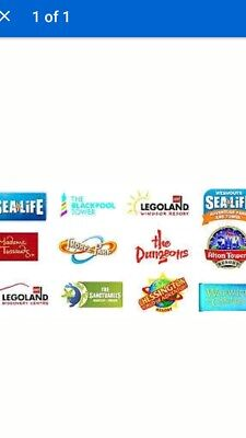 6 x  VOUCHERS FOR FREE ADULT ENTRY TO MERLIN ATTRACTIONS