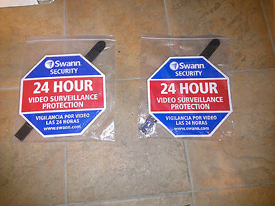 2X Swann Communications Security Deterrent Sign SW276YSS English & Spanish