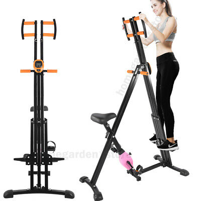 2 In 1 Vertical Climber Climbing Bike Stepper Cardio Machine Exercise Home New