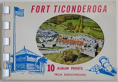 Fort Ticonderoga Photo Flip Book 10 Travel Kodachrome Prints #A-111 NM Cond.