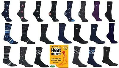 Heat Holders ULTRA Lite Winter Warm Thermal Casual Socks 5 Colours Ladies / Mens
