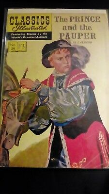 Classics Illustrated no 29....The prince and the pauper