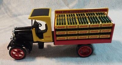 Coca Cola Die-Cast Metal Yellow Truck Bank