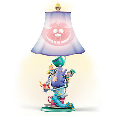 Disney's Alice In Wonderland Mad Hatter's Tea Party Lamp - Bradford Exchange