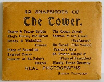 "The Tower 12 Vintage Snapshots Real Photographs British Productions NM 3.5""x 2¾"""