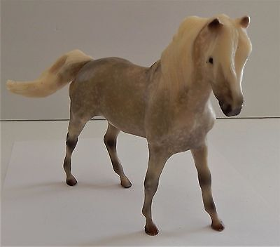 Breyer Reeves Horse Stone Colored Grey and White Mane Spots Statue Toy Vintage
