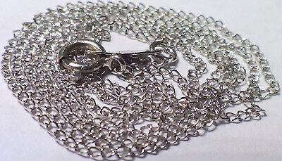 Solid 14K White Gold Link Chain 18 Inches Long  No Reserve