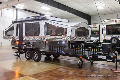 New 2018 28TSCSE Sports Enthusiast Pop Up Toy Hauler Slide Out Folding Camper