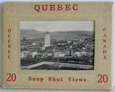 "Quebec Canada 20 Vintage Snapshots Real Photos Photogelatine Engraving 3½""x2¾""NM"