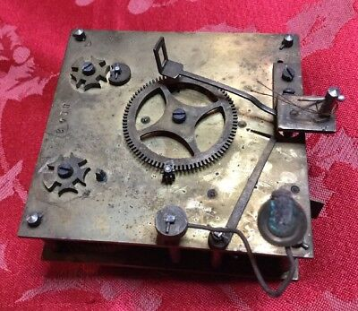 Unusual Austrian  Square Plate Part Movement Outside Countwheel Spare Repair