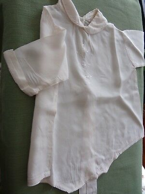 Vintage Silk Baby/Infant~Christening Romper~Embroidery~White~ESTATE~