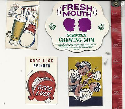 Vintage lot display Paper 4 pieces for vending machines FREE SHIPPING #6