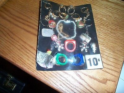 Vintage gumball machine display card charms and toys FREE SHIPPING number 12